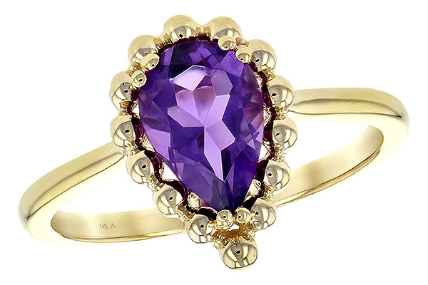 F189-49249: LDS RING 1.06 CT AMETHYST