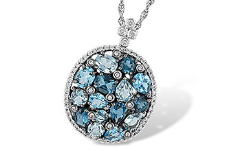 G187-67440: NECK 3.12 BLUE TOPAZ 3.41 TGW